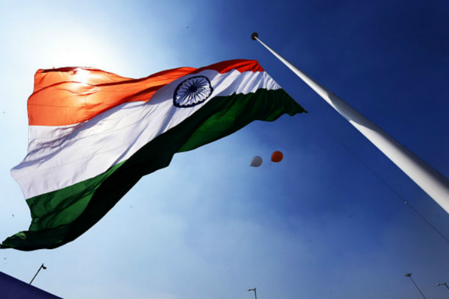 Indian Fying Flag
