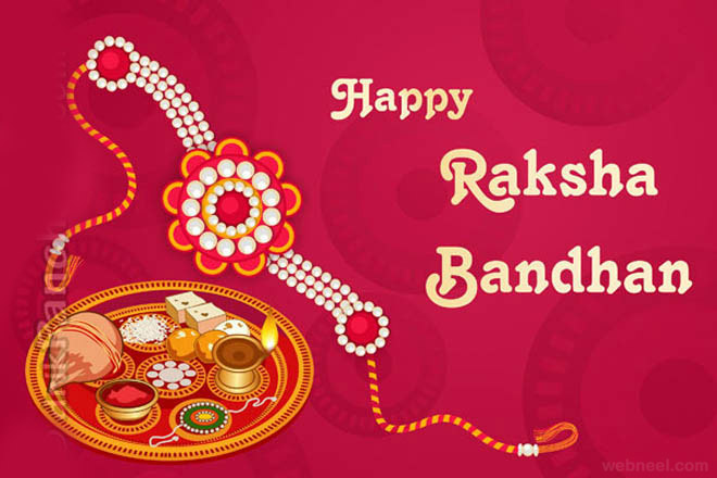 Raksha Bandhan 2017 Greeting Card for Sister