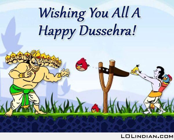 Happy Dasara Funny Image for Instagram