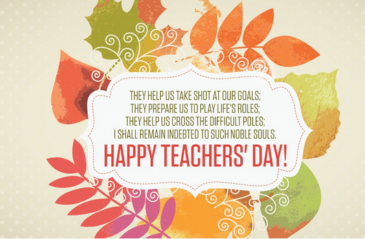 Happy Teachers Day 2017 Greeting Card