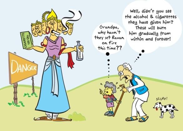 Ravan Cartoon MEME for Dasara 2017