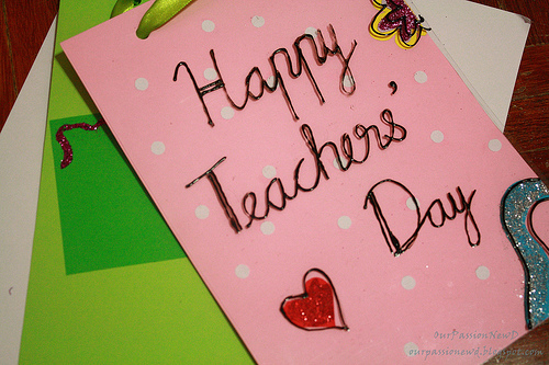 Teachers Day 2017 Gift Card Free