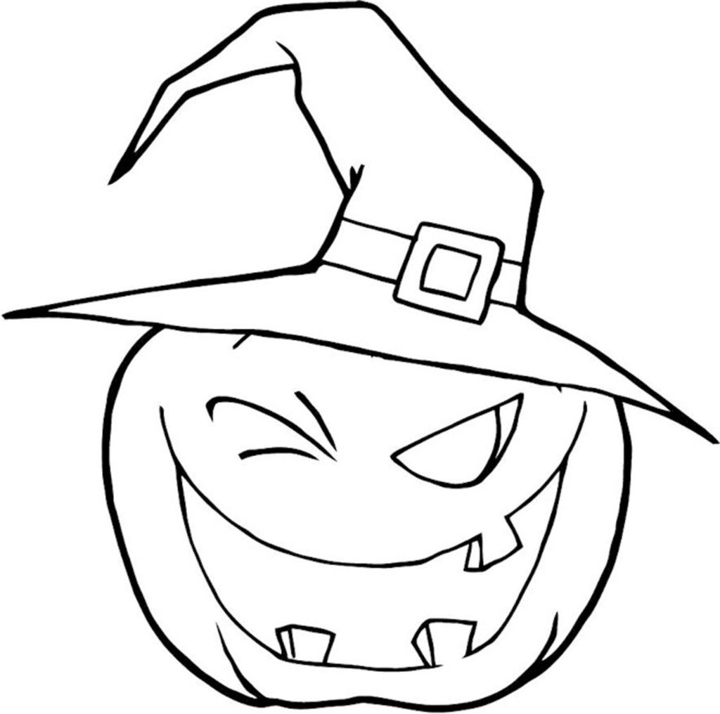Funny Pumpkin Coloring Pages