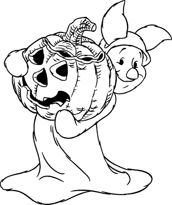 Halloween Pumpkin Page to color