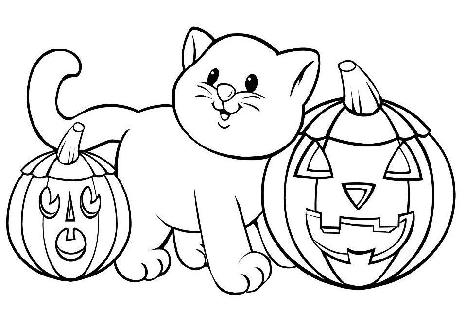 Halloween coloring pages 2017 for Kids