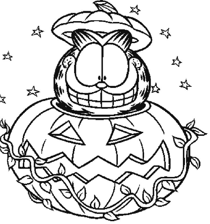 Halloween coloring pages 2018 printable halloween for Halloween printable color pages