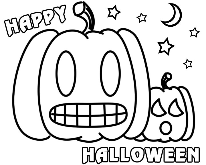 Happy Halloween Pumpkin Coloring Pages 2019