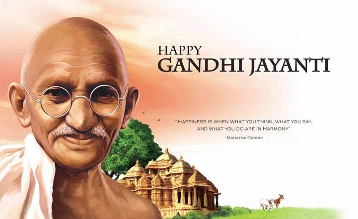 Happy Mahatma Gandhi Jayanti Whatsapp Status