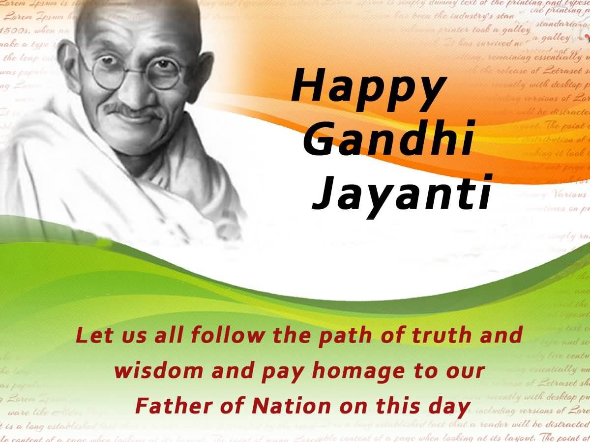 Happy Mahatma Gandhi Jayanti Wishes
