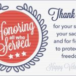 Veterans Day Thank You Cards
