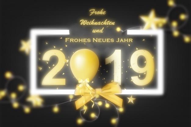 Frohe Weihnachten und Frohes Neues Jahr 2019