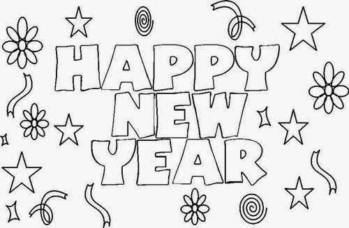 New Year 2019 Black and White Clipart PNG