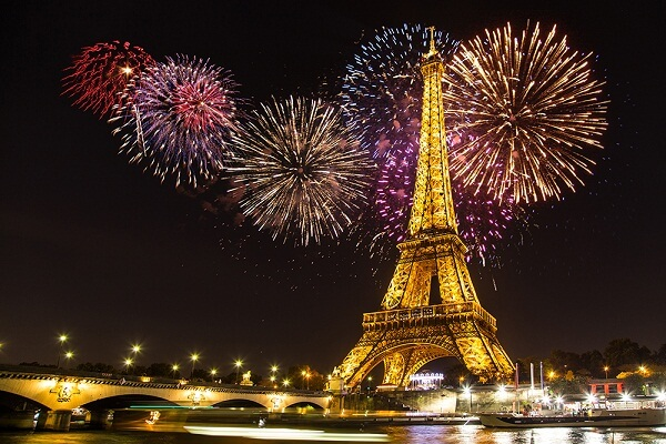 New Year 2019 Countdown Videos & Images Live Moment in Paris, France