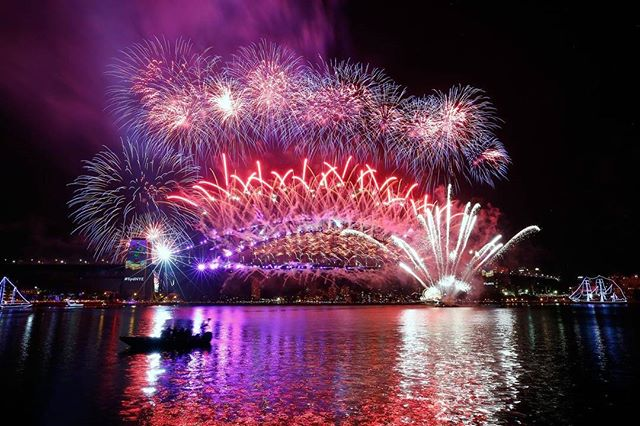 New Year 2018 Countdown Videos & Images Live Moment inSydney Australia