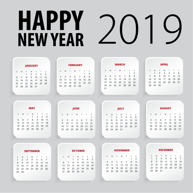 New Year 2019 Calendar Download
