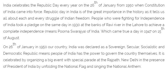 26th January | Republic Day Essay in English (150 words)