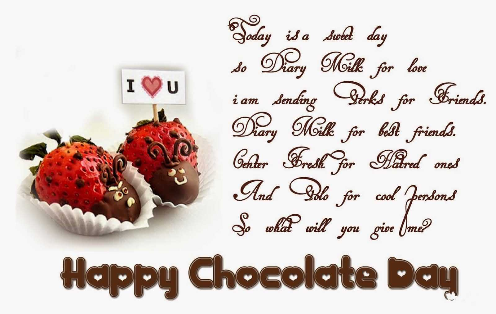 Chocolate Day Wishes for GF, BF, Lovers