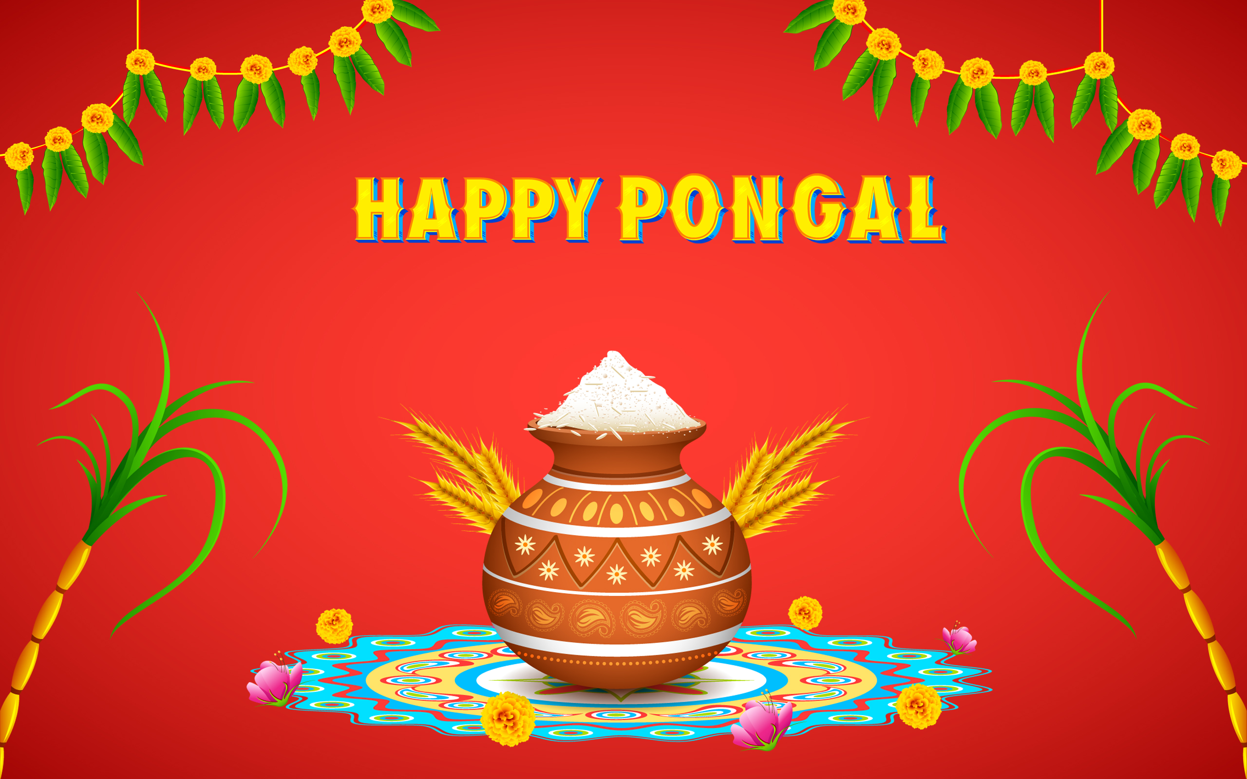 Happy Pongal 2018 Messages & SMS in Tamil, Telugu, Malayalam, English & Hindi fonts