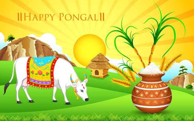 Happy Pongal 2018 Status for Whatsapp & Facebook in Tamil, Telugu & Malayalam font