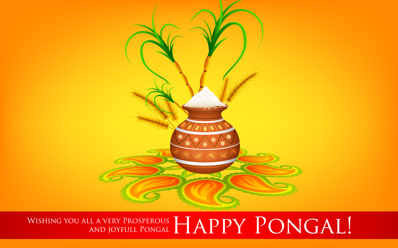 Happy Pongal 2018 Wallpaper