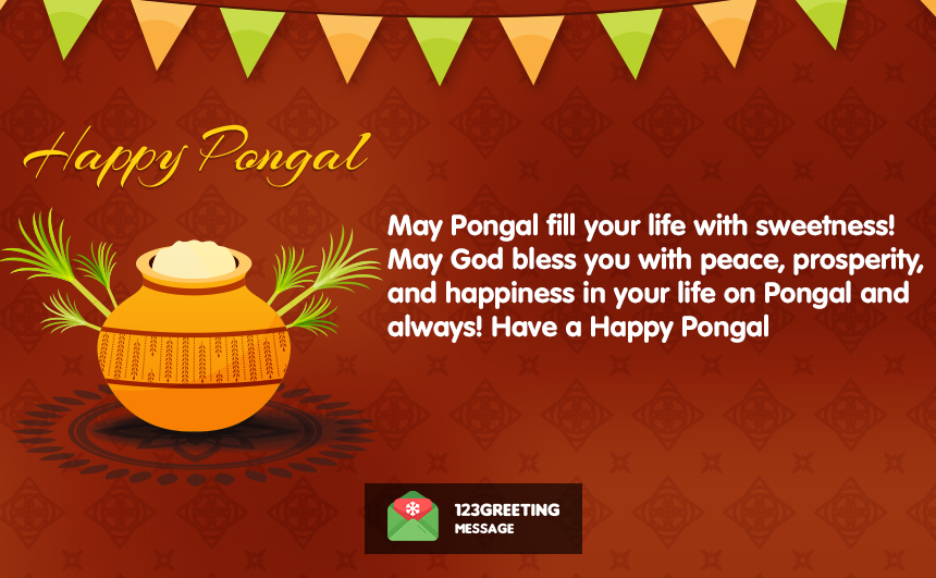 Happy Pongal Short & 2 Line Status