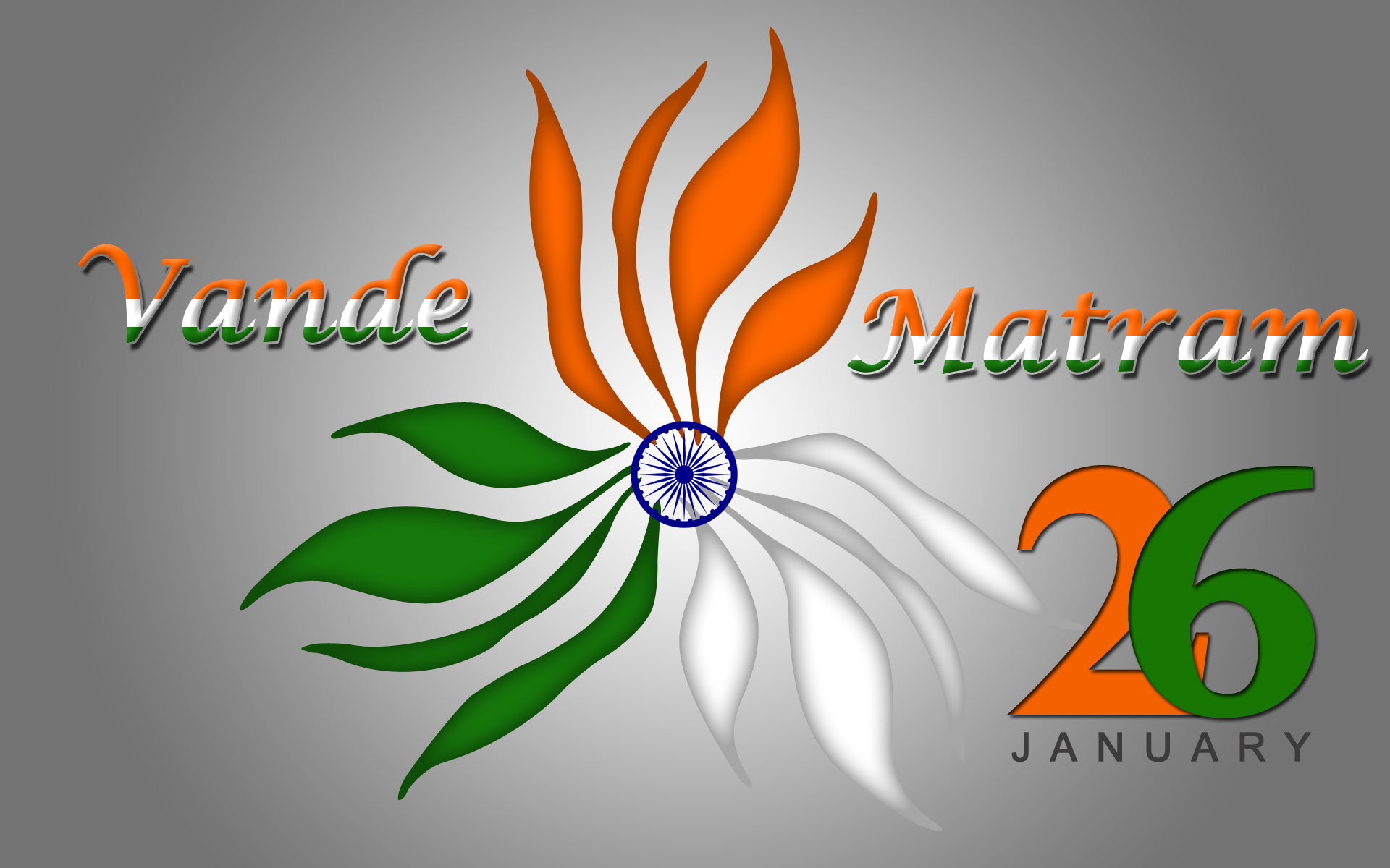 Republic Day Image with Vande Mataram Quote
