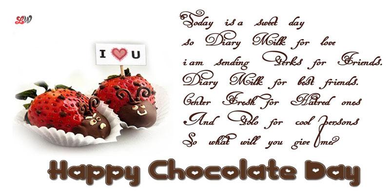 Chocolate Day 2019 Love Shayari for Lovers, Crush, BF, GF, Friends