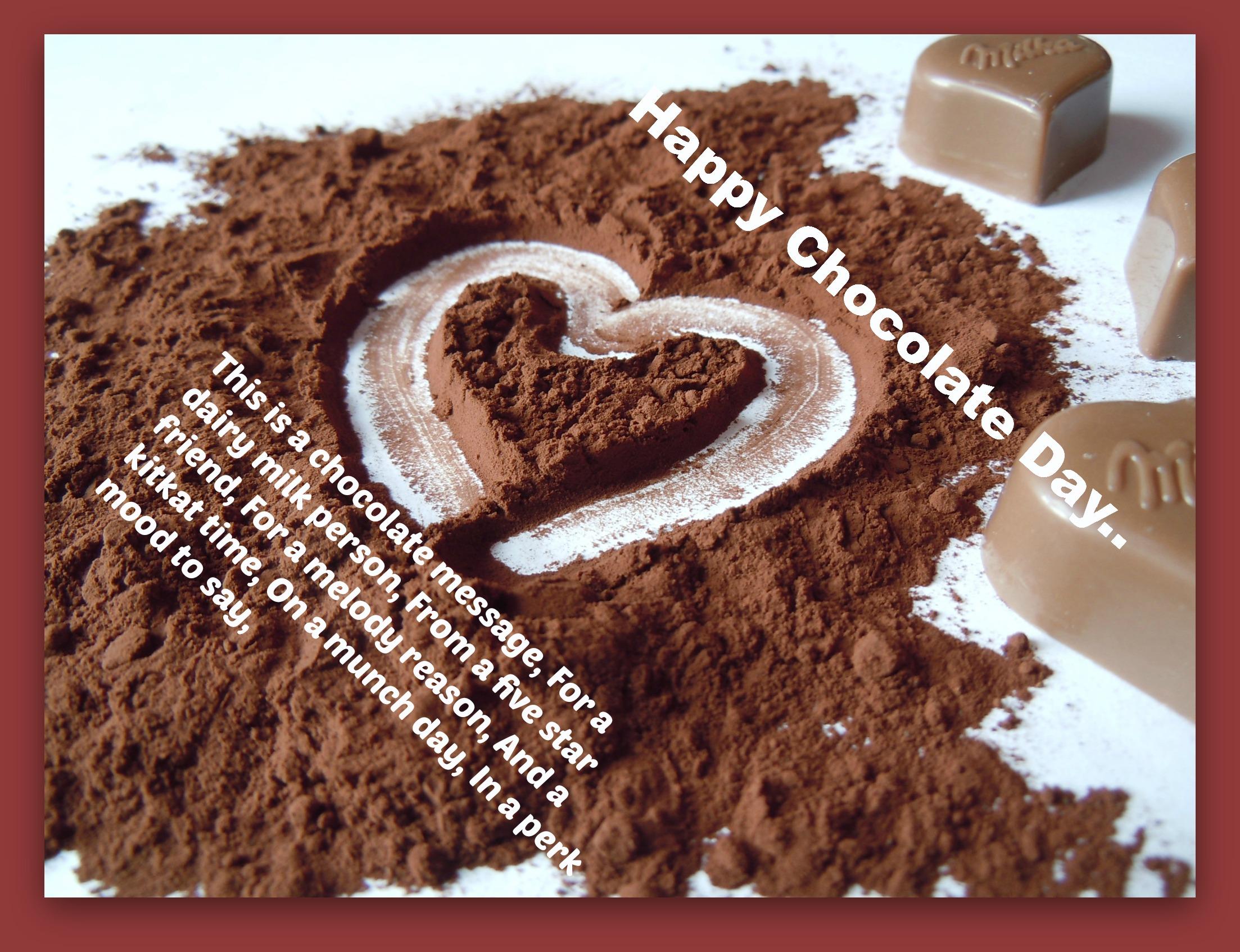 HappyChocolate Day 2019 Shayari in Hindi & English font