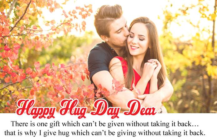 Happy Hug Day Couple Image
