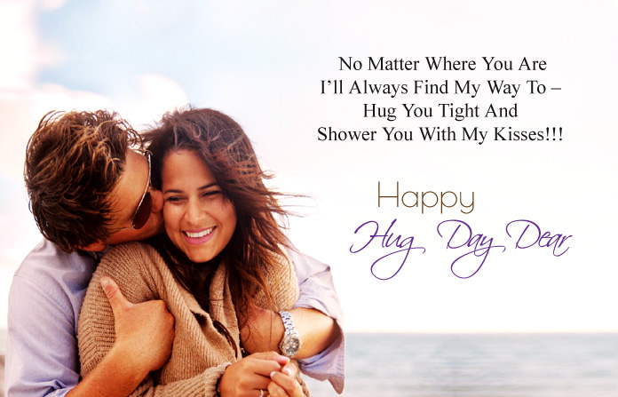 Happy Hug Day Image for GF & BF