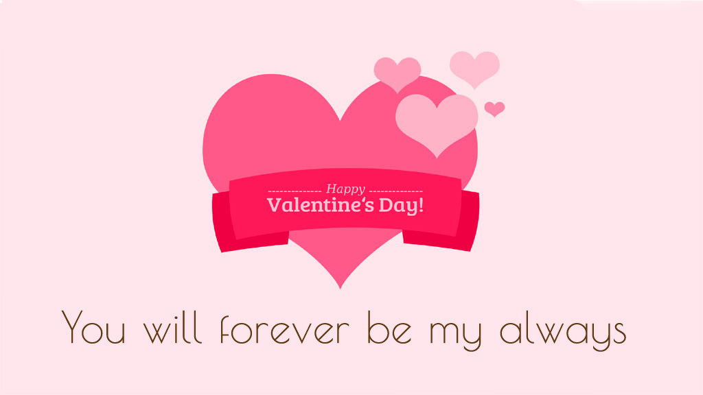 Happy Valentines Day Wallpaper with Quote