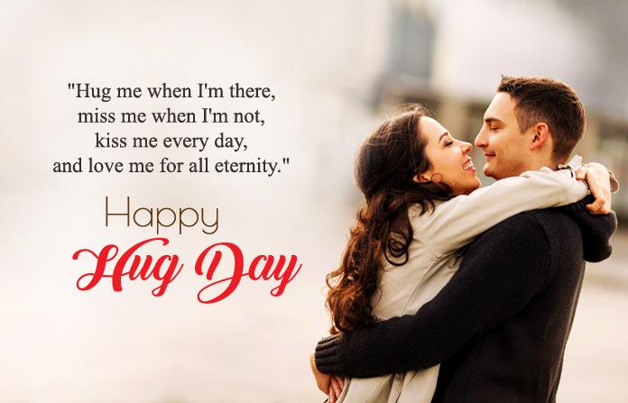 Hug Day Image for Wife & Husband