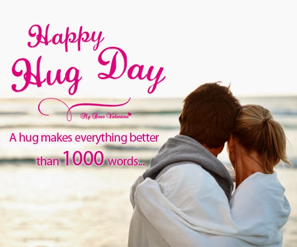 Hug Day Image with Quote