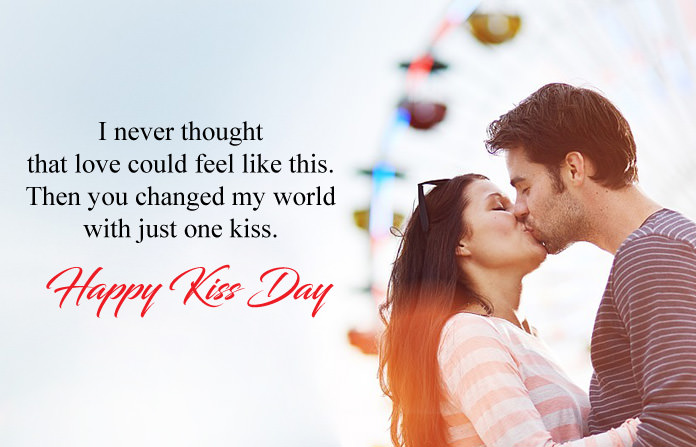 Kiss Day Image with Quotes