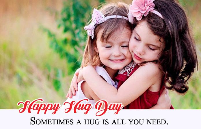 Sweet Hug Day Image for GF, BF & Lovers
