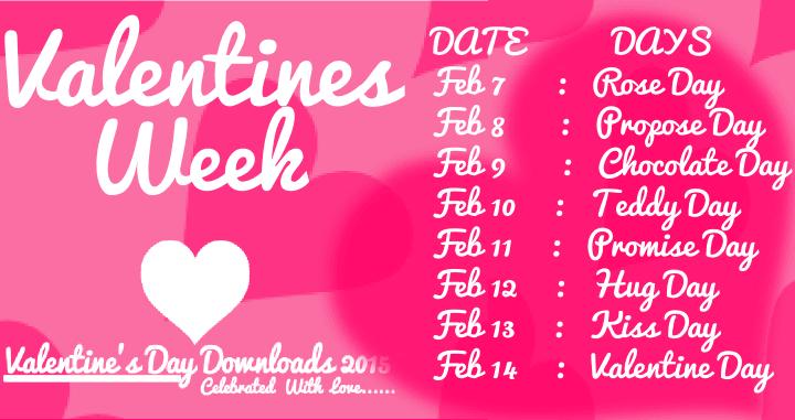 Week List 2018 Dates Days Timetable Calendar Schedule