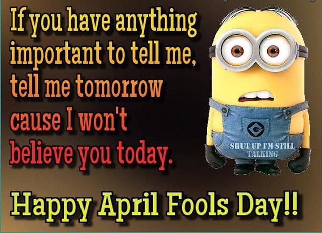 April Fool 2018 Funny Messages & Jokes
