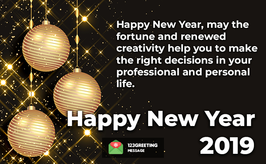 Happy New Year Thoughts 2019
