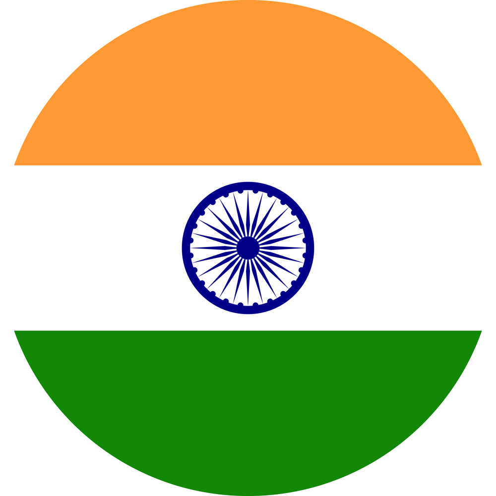 indian flag round