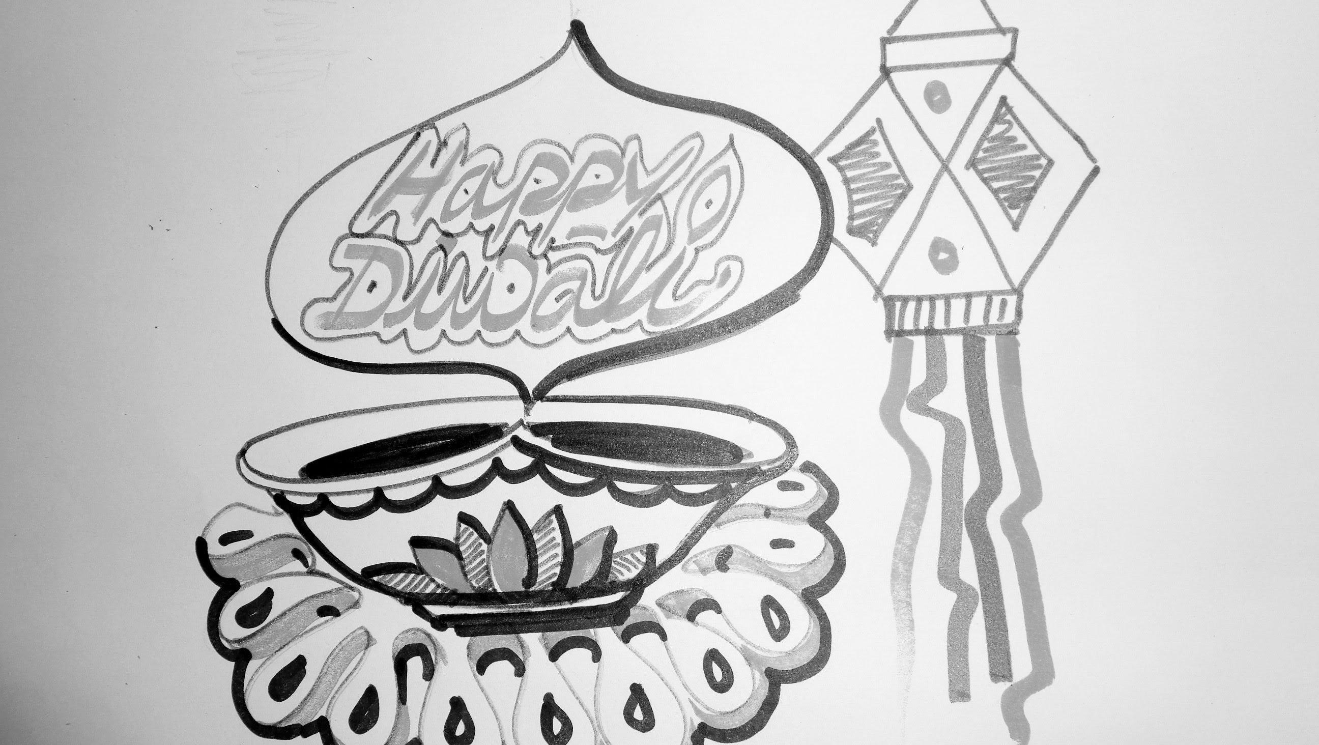 Deepavali Drawing 2018
