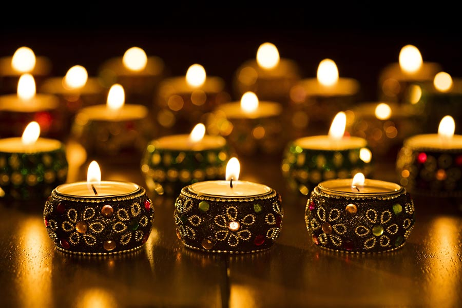 Diwali Candle Decoration