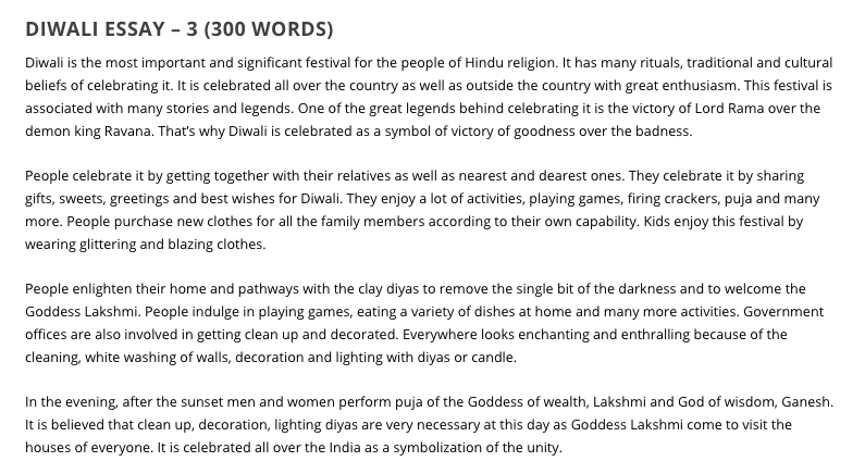 Diwali Essay for Kids & Students