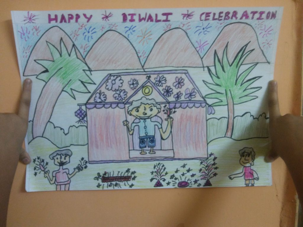 Diwali Painting for Kids