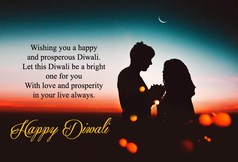 Romantic Deepavali Love Wishes for Lovers