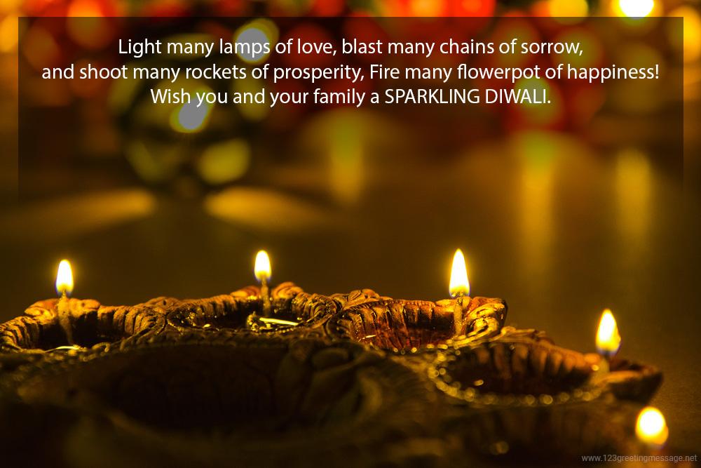 Wishing You a Very Happy Diwali Text in Hindi & English