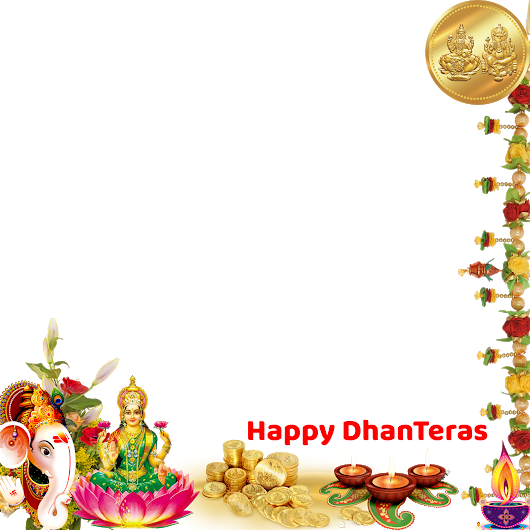 Dhanteras Sticker's for Whatsapp with Lord Laxmi & Kuber