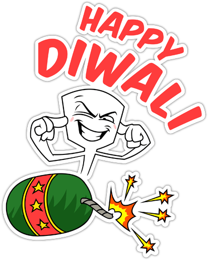 Funny Diwali Stickers for Whatsapp