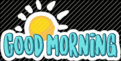 Good Morning Sticker with Sunshine