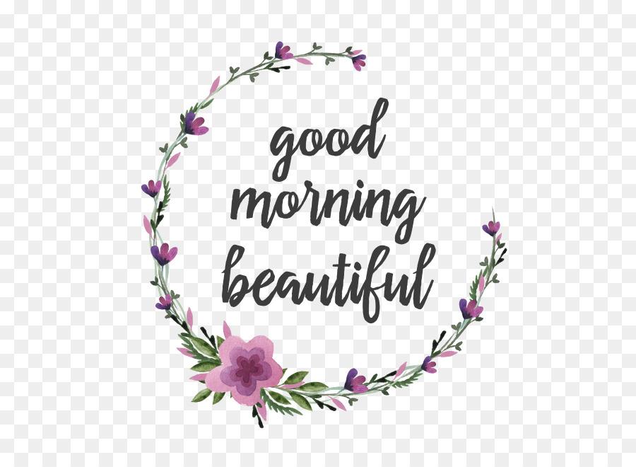 Good Morning Whatsapp Sticker with Flower
