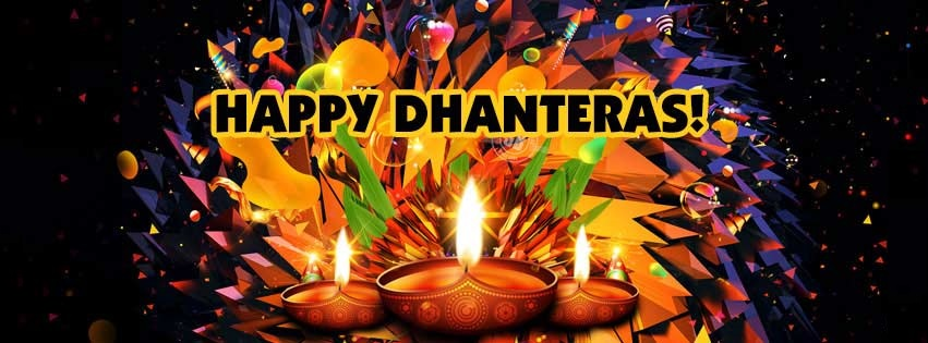 Happy Dhanteras Facebook Cover for Timeline